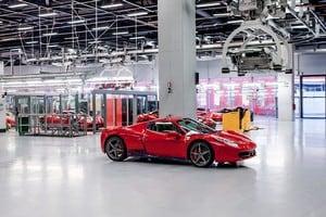 Завод Феррари в Италии