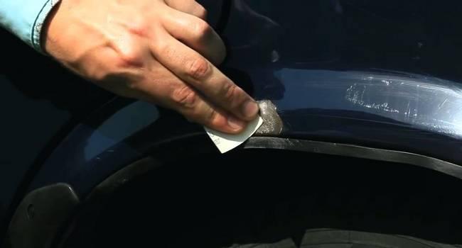 Ремонт сколов на автомобиле своими руками
