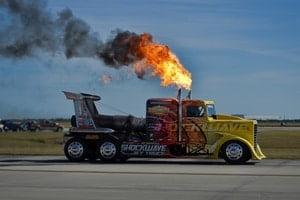Самый быстрый грузовик в мире на реактивных двигателях