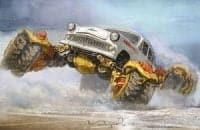 Забавные рисунки советских автомобилей