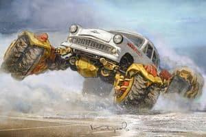 Забавные рисунки советских автомобилей Данияра Кдырова