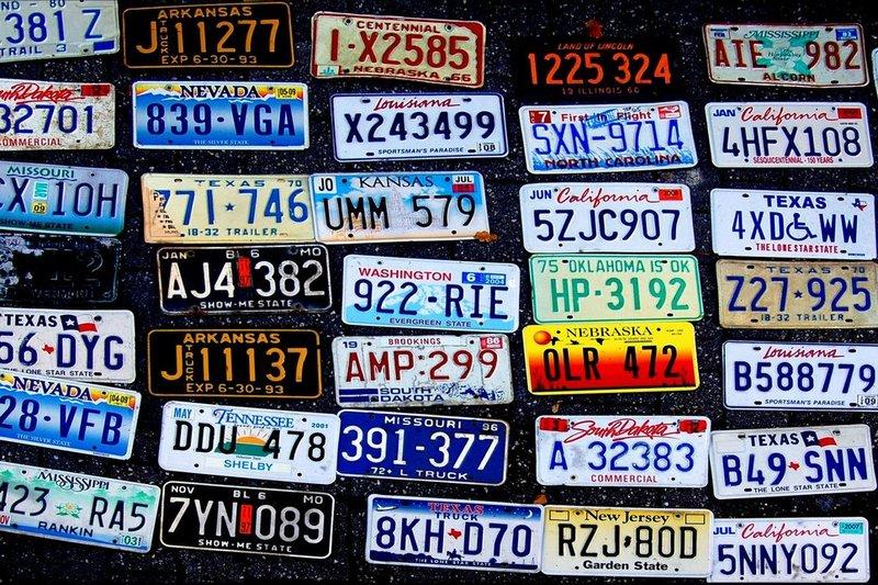 Автомобильные номера в США