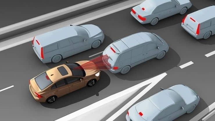 система экстренного торможения авто (EBA) фото