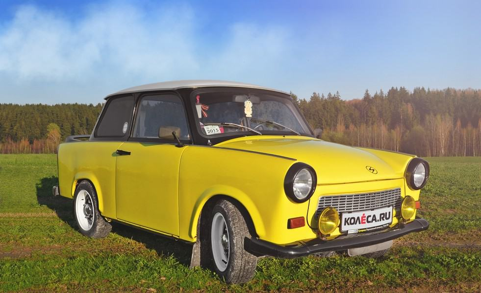 Trabant желтый фото