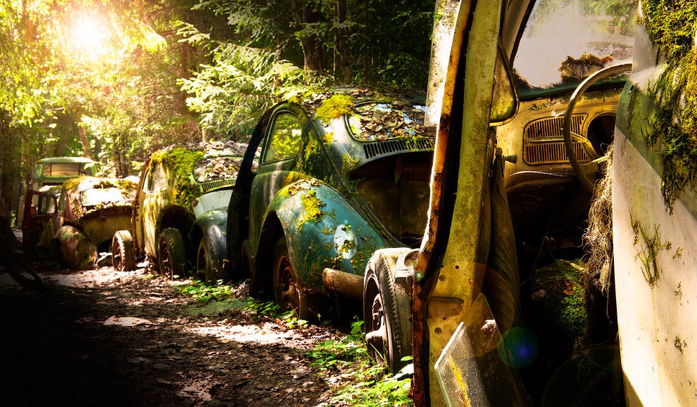 Кладбище старых автомобилей фото