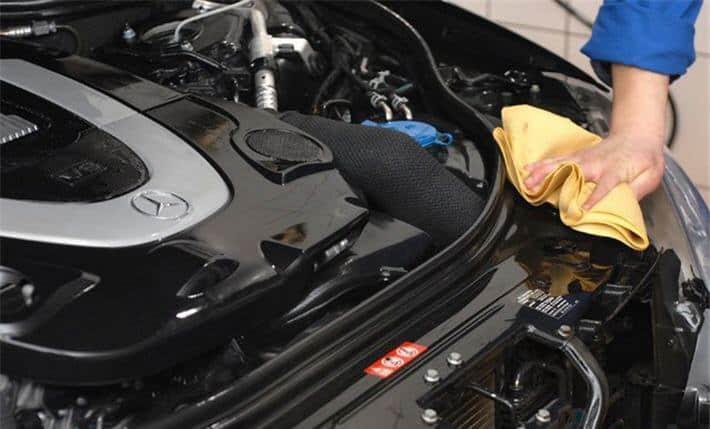 помыть двигатель авто фото