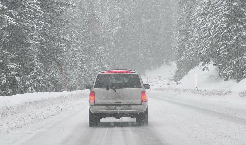 вождение в снег фото