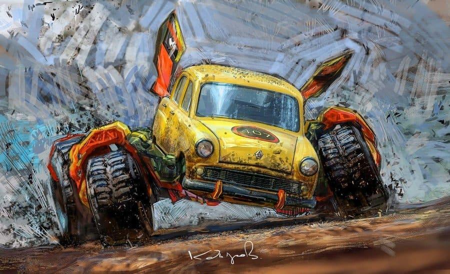 рисунки советских автомобилей фото