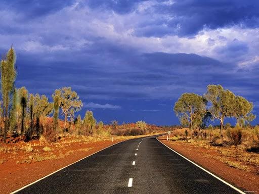 дорога на территории австралии фото