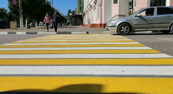 Пешеходные переходы желтый