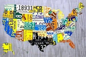 Автомобильные номерные знаки США по штатам