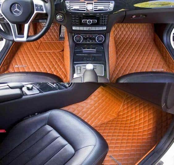 авто коврик оранжевый