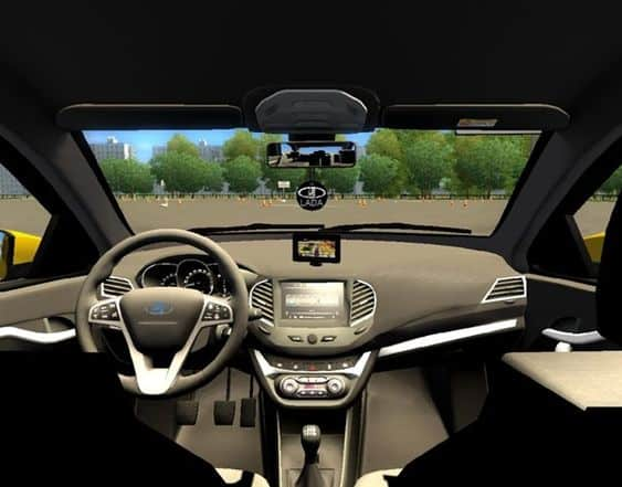 LADA Granta Drive Active inside